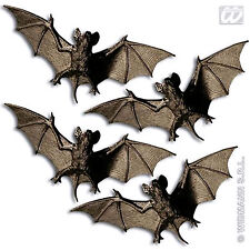 New Bats Pack Of 4 Bats Plastic Party Decoration for Halloween Vampire BATS 11cm