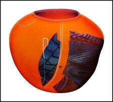 William Morris Original Hand Blown Glass Shard Vessel Vase Signed Abstract Art