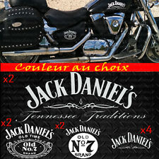 10 stickers Jack Daniel's kit sticker deco casque moto decal autocollant jack