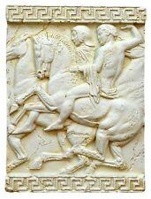 Relief Wandrelief Bild Wandbild Antike Reiterkampf Pferd 2676 /Mater.: Stuckgips