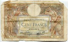 BILLET FRANCE  100  FRANCS   MERSON  24 / 2 / 1938