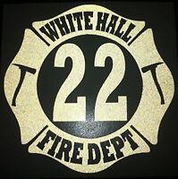 <<<REFLECTIVE>>> Custom Firefighter Dept, Station, Shift Decal Rescue Sticker