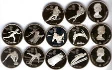 Canada Serie Calgary 1988 10 valori di 20 Dollaro PROOF argento