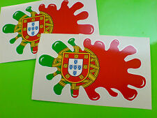 Portugal / Portugais Drapeau Splat van voiture moto autocollants stickers 2 Off 100mm