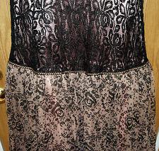 NWT PENTA BLACK LACE/BLUSH CHIFFON -SAMPLE DRESS-SZ. 4-PROMS/PARTY