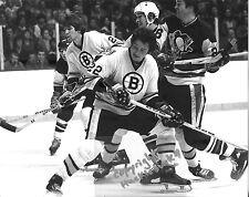 BRAD PARK HOF Boston Bruins Photo in action (c) #2  O'Reilly  Milbury