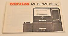 Minox MF35 / MF35ST Owner's Manual, Original, Not a Copy!