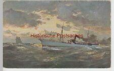 (97875) Künstler AK Dampfschiff auf hoher See, Werbung f. Fahrrad-Fabrik Einbeck