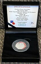 2018 Isle of  Man Centenary of First World War Colour 50P Proof Coin With COA.