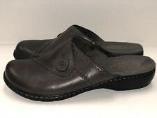 Women's Clarks Gray Slip-On Clog Size 8.5 M 67750 Dress Comfort Business Power