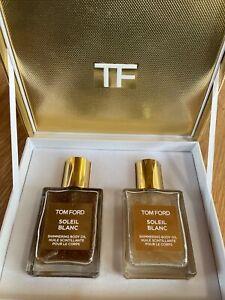 TOM FORD Soleil Blanc Shimmering Body Oil Set Gold & Rose Gold 1.5 fl oz ea NEW