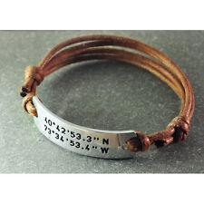 Personalized Coordinates Bracelet, Custom Latitude and Longitude Bracelet