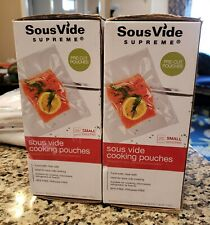 LOT OF 2 SOUSVIDE SUPREME SZ SMALL COOKING POUCHES SEALED POACHING EACH HAVE 25!