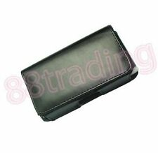 BLACK Horizontal Mobile Phone Leather Case Pouch with Belt Waist Clip VC5 Design