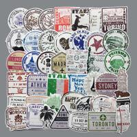 60 x Retro viaje Tarjeta de Embarque Boletos Aéreos Creativos Maleta pegatinas