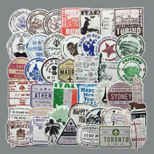 60pcs/lot Retro traveling boarding pass air tickets creative suitcase sticker~SR