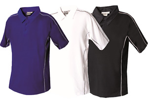 Mens Polo Shirts Breathable Plain T Shirt Short Sleeve Tee Pique Gym Top Wicking