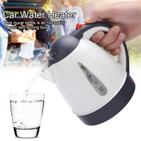 1000ml 12V Stainless Steel Car Water Kettle Warmer Travel Camping Tea Coffee Jug