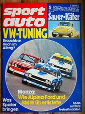 sport auto - Nr. 5 1973 mit Test Sauer VW 1303 Käfer, Honda CB 350 Four, Spoiler