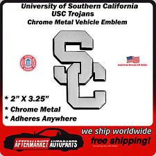 University of Southern California SC Trojans Chrome Metal Car Auto Emblem Decal