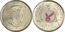 2006 CANADA BREAST CANCER AWARENESS PINK RIBBON 25 CENT COIN MINT GRADE GEM COIN