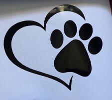 Pawprint Heart. Car Decal. Sticker. Bumper Sticker. Cute Car Sticker. Fun