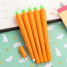 2Pcs Kawaii Carrot Gel Pen Set Novelty Funny Pens Stationery School Supply UK