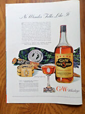 1942 G & W Whiskey Ad Dress Accessories of Canada's Black Watch