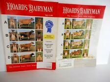 2 HOARD'S DAIRYMAN Magazines JERSEY Cattle Cows Dairy Farm 2000 - 2010 Illus