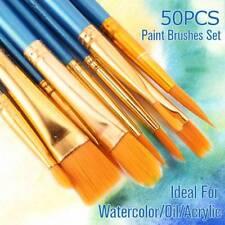 50x brosse à peinture bois pour artistes aquarelle acrylique& peinture à l'huile
