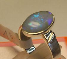 Brazil Crystal Opal 2.5 carati 950er Argento Anello dimensioni 18,8 mm