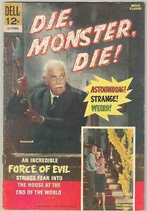 Dell Movie Classics: DIE, MONSTER, DIE! (1966) Boris Karloff photo cover!!!