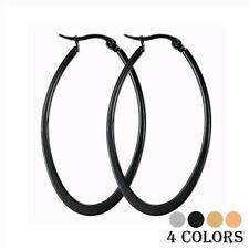 Big Smooth Oval Hoop Earrings Brincos Celebrity Brand Loop Earring for Women