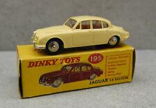 Dinky Toys  195 Jaguar 3.4 Saloon Cream  Ridged Hubs Very Near Mint in box