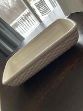 Longaberger woven reflections pottery ivory server
