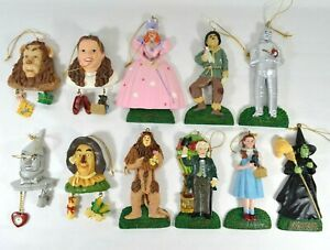 LOT of 11 Vtg 1999 Wizard of Oz Kurt Adler Christmas Tree Ornaments RARE