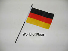 "GERMANY SMALL HAND WAVING FLAG 6"" x 4"" German Crafts Table Desk Display"