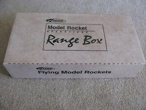 ESTES FLYING MODEL ROCKET STARTER SET WITH BOX PARTS