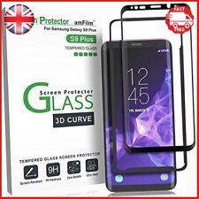 Galaxy S9+ Screen Protector Glass amFilm Full Cover 3D Curved Tempered Glass