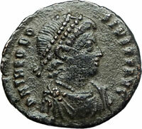 THEODOSIUS I the GREAT379AD Authentic Ancient Roman Coin Constantinopolis i75855
