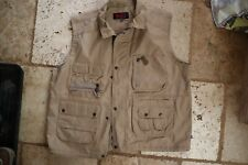 Light Brown FJALL RAVEN Zip & Snap Mesh Lined Multi Pocket Vest XXL or 2XL