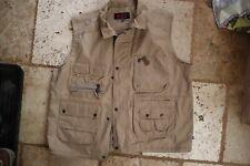 Light Brown FJALL RAVEN Zip & Snap Mesh Lined Multi Pocket Vest XXL or 2XL
