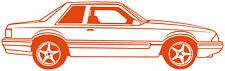Fox Body Ford Mustang Side View Vinyl Decal Your Color Choice Sticker