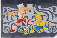 AH / Panini football Euro 2012 Special Dutch Edition #3 mascottes Logo / Foil