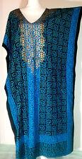 100% Cotton NWT Loungewear women Caftan Kaftan Long Maxi Beach Resort Gown Dress