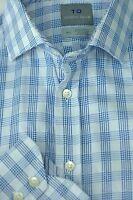 Thomas Dean Men's Blue & White Check Cotton Casual Shirt L Large