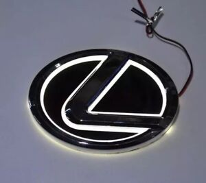 Lexus White LED Emblm Logo 125mm Lexus LS270 RX450h CT200 EX250 IS250 IS350 ISF