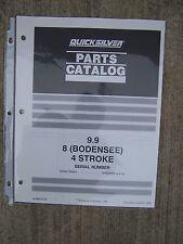 1996 Mercury Marine Quicksilver Parts Catalog 9.9  8 (Bodensee) 4 Stroke Boat  S