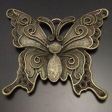 64mm Antique Bronze Tone Elegant Butterfly Charm Pendant Findings 1PCS