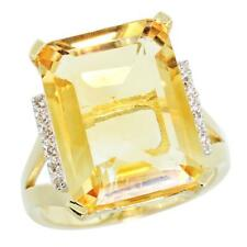 Natural 12.13 ctw Citrine & Diamond Engagement Ring 14K Yellow Gold ... Lot 8310
